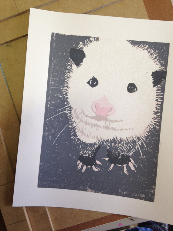 Wildlife Rehabilitation Center possum print (Cookie)