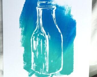 Vintage Milk jug painting print