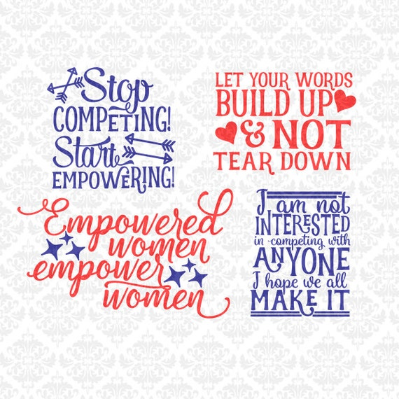 Stop Competing! Start Empowering! SVG DXF STUDIO ai eps png Scalable Vector Instant Download Commercial Use Cutting File Silhouette Cricut