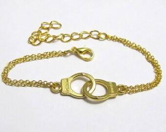 Birthday Gift For Friend Friendship Bracelet, Handcuff Bracelet Best Friend Gift, GoldRemind, Best Friend Bracelet Graduation gift bff gift