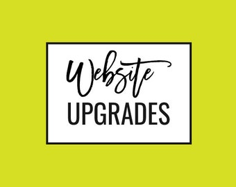 Website Template Upgrades - Add On Services