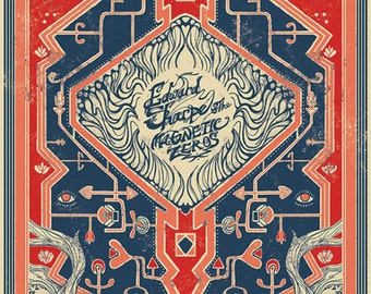 Edward Sharpe & The Magnetic Zeros Official Hand-Printed Gigposter