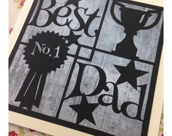 Best Dad Paper Cutting Template - Commercial Use