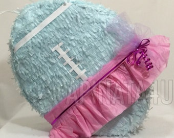 Gender Reveal Football & Tutu Pull Strings or Traditional Pinata