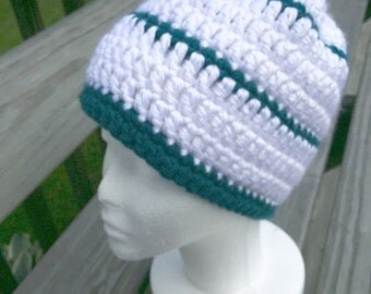 Chunky Stripe Beanie hat