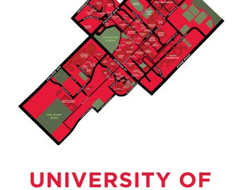 University of Guelph Campus Map Print