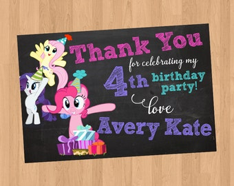 My Little Pony Thank You Card