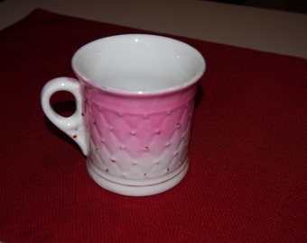 Pink and White coffee cup, Vintage