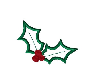 Christmas Design - Mistletoe Design - Holly Applique Design - Christmas Applique Design - Christmas Embroidery - Digital Embroidery file