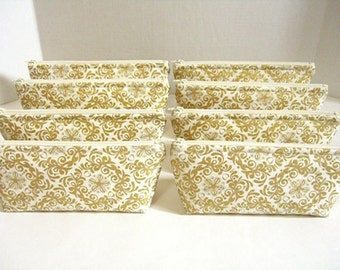 Set of 10 - Metallic Gold and Cream Clutches - Gold Makeup Bag - Gold Wedding Clutch - Gold Bridesmaid Clutch - Gold Bridal Bag - Gold Pouch