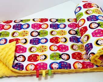 Super Soft Minky Blanket - Russian Dolls/Sunshine Robert Kaufman
