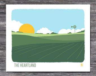 The Heartland Screen Printed Poster
