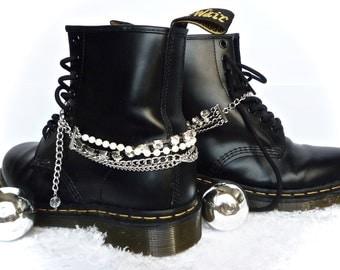 Doc Marten Boot Chains, DM, Dr Martens, Doctor Martens Baby Jane Twist Boot Bracelet