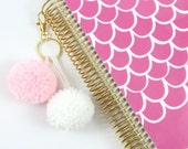 Strawberry Shake Medium Pom Pom Keychain