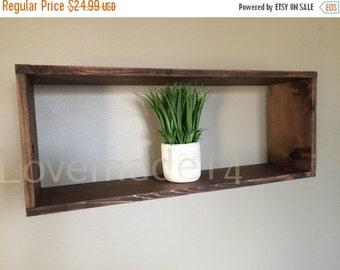 ON SALE box shelf, rustic shelf, cube shelf, wall shelf