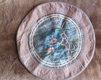 Vintage French Round Pillow Cushion