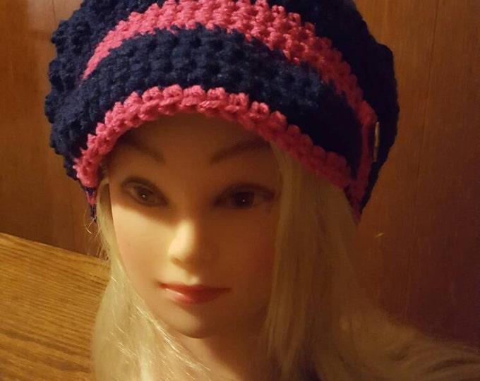 Crochet ladies Bobble hat