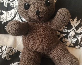 Crochet Teddy Bear - Knitted Stuffed Animal - Custom Made Cuddly Toy - Handmade Plushie - Cute Fabrications