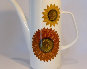 """J&G Meakin """"Sunflower"""" Coffee pot - original from the 1960's"""