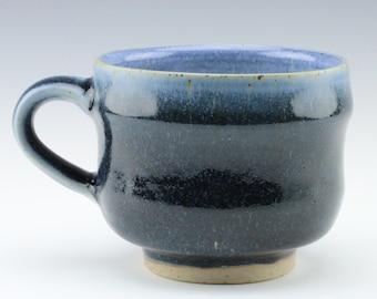 Stoneware Blue Glazed Ceramic Mug, 11 oz.