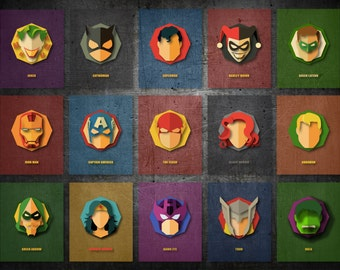 Vector Superhero Minimalist Poster
