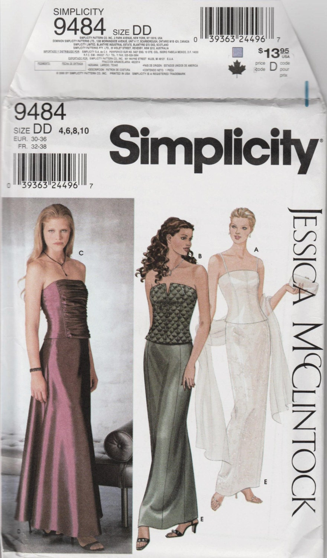 Prom dress pattern junior bridesmaid dress simplicity sz 4 10 b 350 ombrellifo Gallery