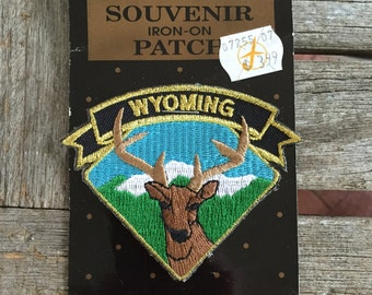 Wyoming Vintage Souvenir Travel Patch by Pinnacle Designs