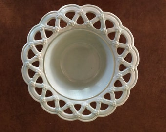Weller Pottery Bowl with Lattice  Edging