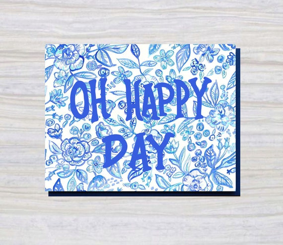 OH HAPPY DAY A2 Size Greeting Card Everyday Card
