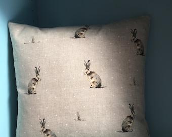 Handmade Hartley Hare Cushion Cover Cotton Pillow Rabbit