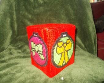 Christmas ball tissue holder