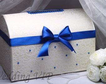 Wedding card box- blue wedding- card boxes - Wedding card boxes- wedding card holder-wedding box card holder - wedding box for cards
