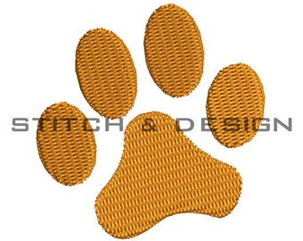 Tiger Paw Embroidery Design - Machine Embroidery Tiger Paw Print