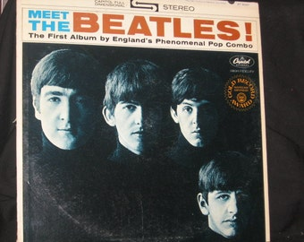 Meet The Beatles 33 1/3 Vinyl Record/30% Off/The Beatles Vintage Capitol/Apple Label Records ST-2047 Stereo/Pop Music
