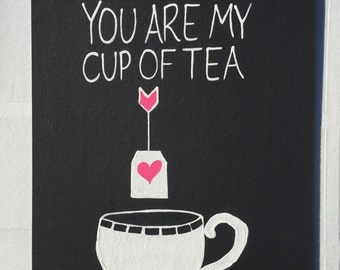 You are my cup of tea painting