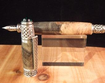 Celtic Fountain Pen with Buckeye Burl #FP10101*
