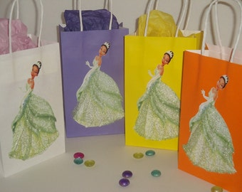 10 Disney Princess Tiana Party Favor Bags