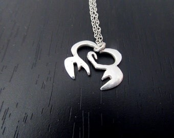 Cancer Zodiac Necklace |Birth Sign Necklace |Cancer sign symbol |925 sterling silver cancer |Cancer astrology charm
