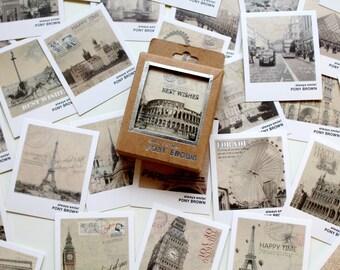 40 Travel Mini postcards,  Thank you cards, Wedding Wishes Idea