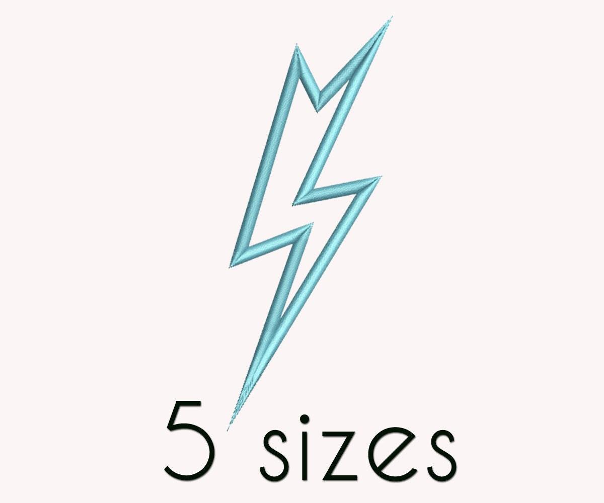Graphic Impressions Embroidery Design: Lightning Bolt 1.55 ...   Lightning Bolt Design