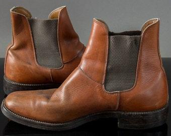 Vintage 70's Mens Chelsea Boots, Vintage British Chelsea Boots,Vintage Beetle Boots, Unisex