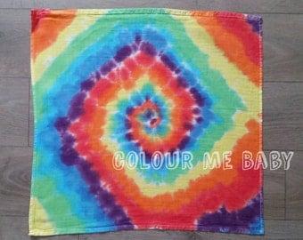 Rainbow swirls muslin square