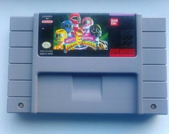 Mighty Morphin Power Rangers Vintage Video Game For Super Nintendo SNES