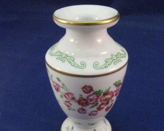 "Miniature  Fine Porcelain Vase - ""Poppy"" August 1982."