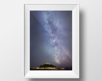 Milky Way Cornwall / St Michael's Mount / Stars / Night Sky / Galaxy / Astrophotography