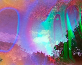 Airborne Eyes Psychedelic 35mm film Analog Colorful Dreamy Nature Photo Print