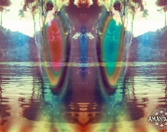Afloat psychedelic colorful photographic image -digital download