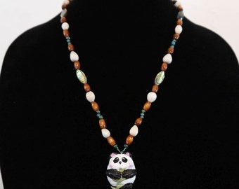 Nommy Nom Nom Panda necklace