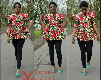 African Print Vintage Top.
