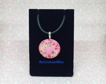 Pink Hedgehog Necklace, Resin Jewlery